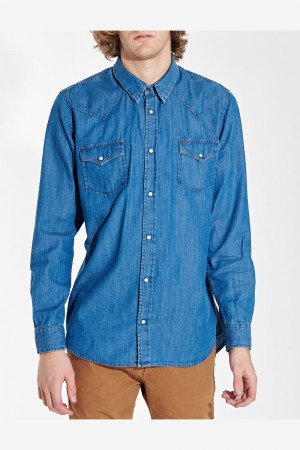 CAMISA DENIM SNAP SHIRT