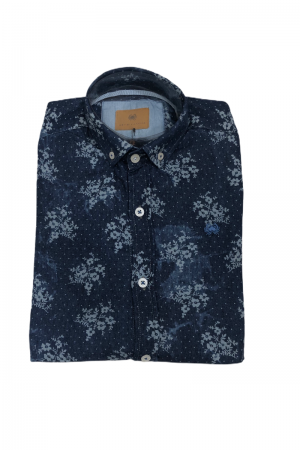 CAMISA BOSNIA DENIM FLORES