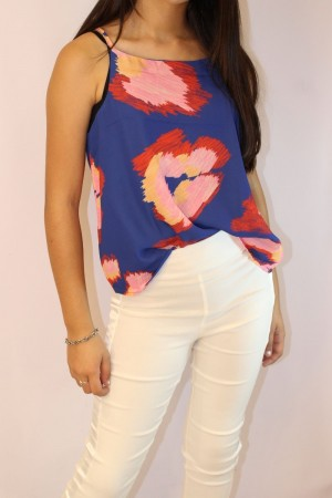 BLUSA TOP DE CREPE SUBLIMADO