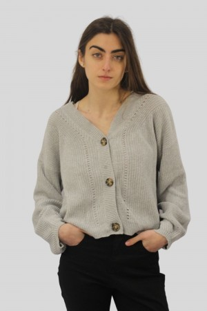 CARDIGAN CROPPED RECYCLING OHNES